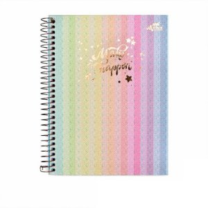 Caderno Colegial Make It Happen Vertical 80 folhas 90g Merci
