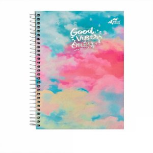Caderno Colegial Magical Vibe Pastel 80 folhas 90g Merci