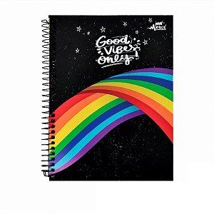 Caderno Colegial Magical Vibe Preto 80 folhas 90g Merci