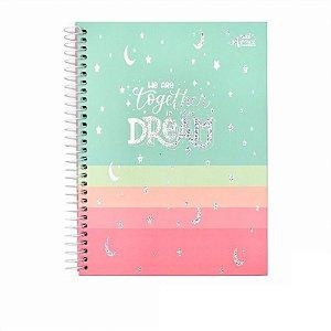 Caderno Colegial Dream Verde 80 folhas 90g Merci