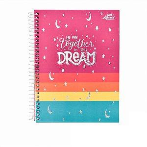 Caderno Colegial Dream Pink 80 folhas 90g Merci