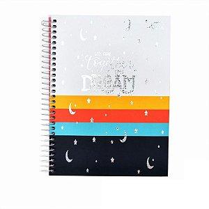 Caderno Colegial Dream Branco 80 folhas 90g Merci