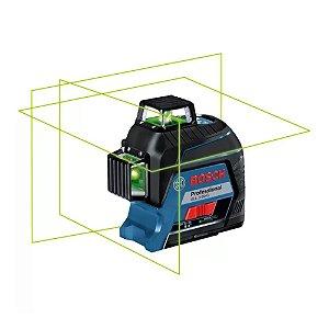 Nível a laser de 3 linhas verde 360° GLL380G BOSCH