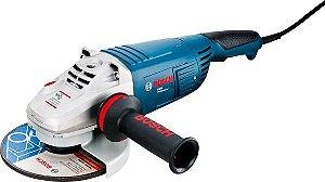 """Esmerilhadeira Bosch GWS26-230 18A6 9"""" (230mm) 2600W"""