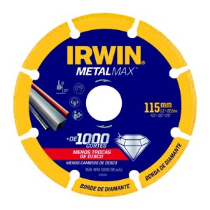 "DISCO DE CORTE 115 MM / 4-1/2"" X 22.23 MM / 7/8""- IRWIN METALMAX-1998845"