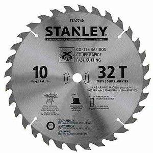 """Disco de Serra para Madeira 10"""" (255mm) 32D Stanley STA7740"""