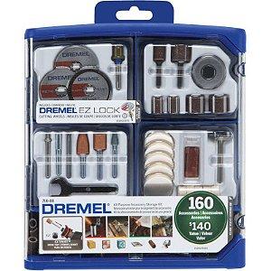 Kit para Micro Retífica Dremel 710 Com 160 Peças Uso Geral