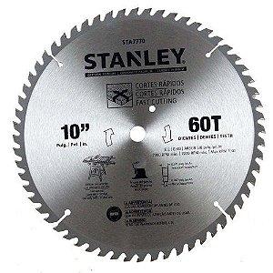 """Disco de Serra para Madeira 10"""" (255MM) 60D Stanley STA7770"""