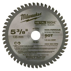 DISCO DE SERRA CIRCULAR DE METAL DE 135 MM X 20 MM X 50 DENTES MILWAUKEE-48-40-4075