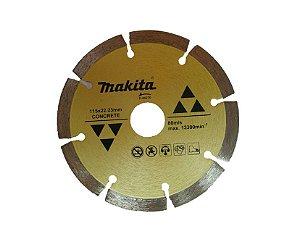 Disco Diamantado para Esmerilhadeira Segmentado 115mm Makita D-44270