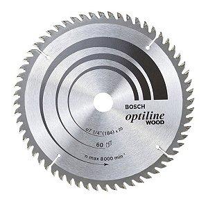 Disco De Serra Circular 60 Dentes 184 mm Bosch - 2608640854
