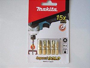 Bits P/ Metal (5PCS) PH2-25MM B-28519 Makita