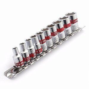 Kit de Soquetes 10 a 22MM 10 Peças 1/2v Aço CR-V 135579 MTX