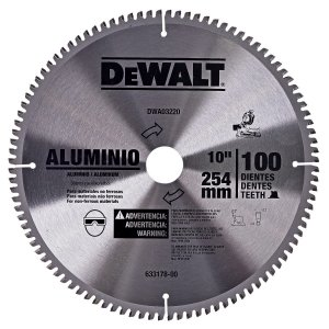 "DISCO DE SERRA WIDEA PARA ALUMÍNIO 10"" 100 DENTES DEWALT DWA03220"