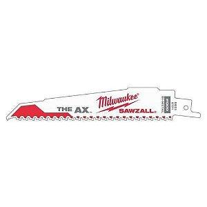 """Lâmina Serra Sabre AX p/ Madeira 6"""" 5D 48-00-8021 Milwaukee"""