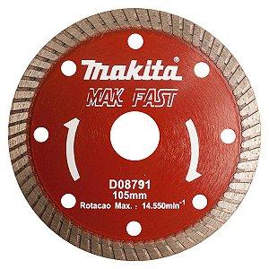 Disco Diamantado Turbo para Serra Circular 105mm x 20mm Makita D08791