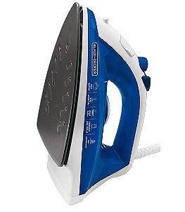 Ferro de Passar a Vapor Azul 110v 1100W Black&Decker AJ2000AZ