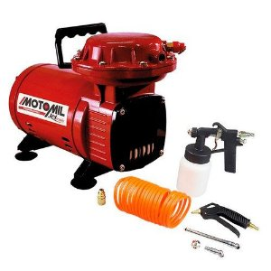 Compressor de Ar 2,3 Pés com Kit de Acessórios 110/220v JETMAIS 00032685.4 Motomil