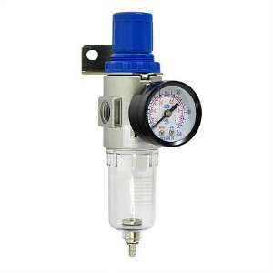 """Filtro regulador de ar 1/4"""" com manômetro PRO004 PDR"""