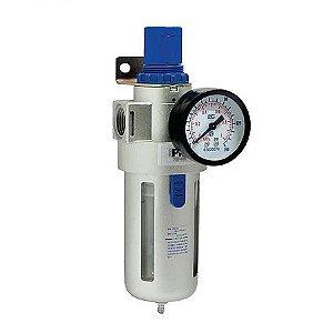 """Filtro regulador de ar 1/2"""" com manômetro PRO002 PDR"""