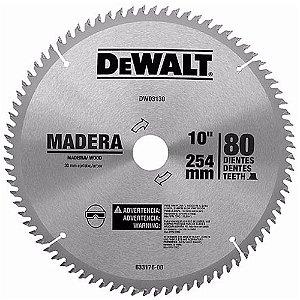 """Disco de serra WIDEA para madeira 10"""" 80 Dentes DEWALT"""