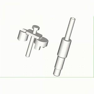 Conector com cavalete para medir compressão de motores Mercedes-Benz OM-904/906/457 Utilizar com 109657