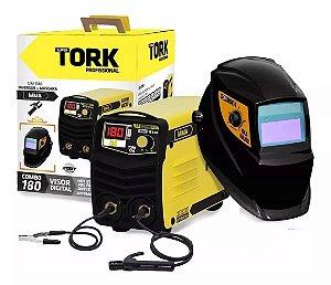 Micro Inversora de solda 180A + Mascara automática KAB SOLAR 220V SUPER TORK