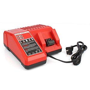 Carregador para bateria de íons de lítio 18V M18 48-59-1801 Milwaukee 110V