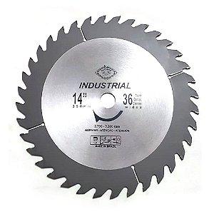 """Serra Circular de widea industrial 14"""" (350MM) 36D SATURNO"""