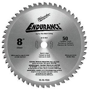 """Disco de serra circular de matais finos 8"""" 203MM 50 dentes Milwaukee"""