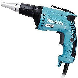 "Parafusadeira Drywall 1/4"" velocidade variavel e reversivel 570W FS4000 Makita 220V"