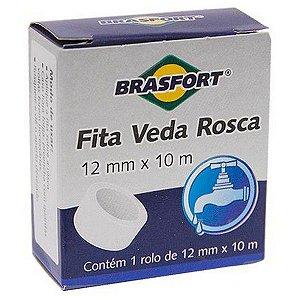 FITA VEDA ROSCA TEFLON 12MMX10M BRASFORT 7463