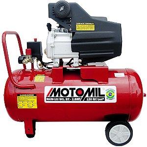 MOTOCOMPRESSOR DE AR 8,8 PÉS3/MIN 2,5HP 50 LITROS 220V MOTOMIL-MAM10-50BR