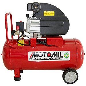 Motocompressor de Ar 8,8 Pés3/min 2,5HP 50 Litros 220V MOTOMIL