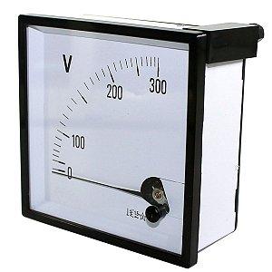 Voltímetro Analógico 72x72 TF-72V AC300V SANMEN