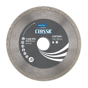 DISCO DIAMANTADO CONTINUO LISO 110X20MM CLASSIC NORTON-70184693464