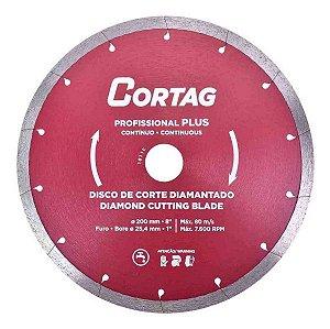 Disco diamantado continuo profissional plus 200x25.4mm CORTAG ZAPP200 ZAPP1250
