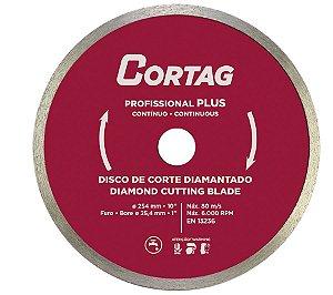 Disco diamantado continuo profissional plus 250X25.4MM CORTAG ZAPP