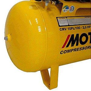 Compressor De Ar 2hp Monof. Biv. 10 Pés Cmv10pl/100 Motomil