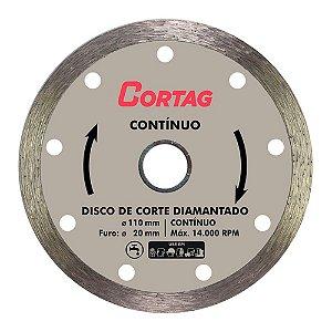 Disco de Corte Cortag Diamantado Contínuo 110mm Furo 20mm