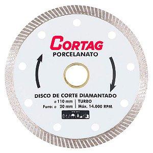 Disco Diamantado Porcelanato Cortag 110mm Furo 20mm 60863