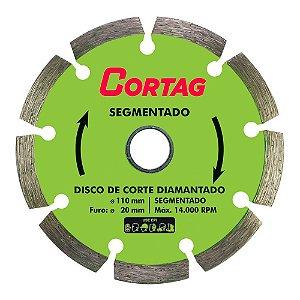 Disco Diamantado Segmentado Cortag 110mm Furo 20mm 60973
