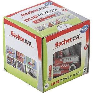 Bucha DUOPOWER nylon 10 x 50 LD fischer Caixa 50 peças