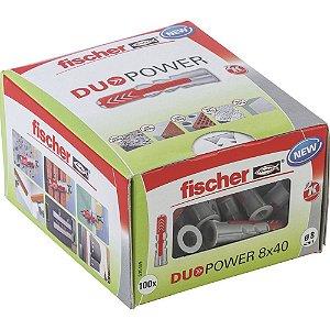 Bucha Duopower Nylon 8x40 Fischer Caixa 100 Peças