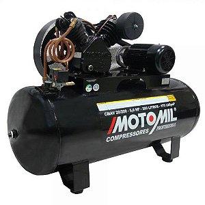 Compressor 20 Pés 5HP 200L 2 Pistões c/ Motor Trifásico CMAV-20/200 MOTOMIL0