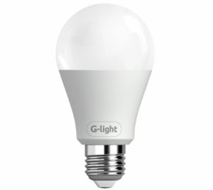 Lâmpada Led bulbo A60 9w bivolt luz branca e27 Glight