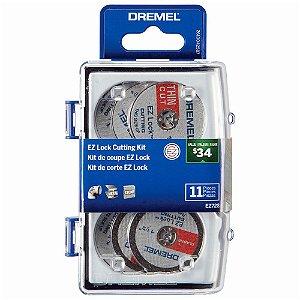 Kit para Cortar para Micro Retífica 11 Pçs DREMEL 2615E728AB