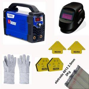 Kit soldador FLAMA 161 BOXER COM ESQUADRO E MASCARA AUTOMATICA BIVOLT