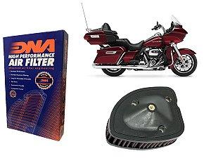 Kit Filtro de Ar Esportivo Harley Davidson FLTRU Road Glide Ultra 107 CI 17' - 18'