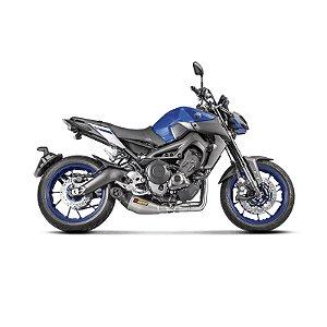 Escapamento Akrapovic Racing Line ponteira em titanio e carbono - Yamaha MT09/ Tracer 900 (15~)
